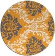 rug #599909 | round light-orange damask rug
