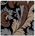 rug #600281   square brown damask rug