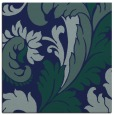 rug #600297 | square blue-green damask rug