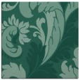 rug #600321 | square blue-green damask rug