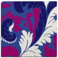 rug #600369 | square blue-violet damask rug