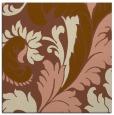 rug #600409   square brown damask rug