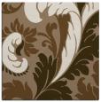 rug #600417 | square mid-brown damask rug