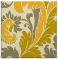 rug #600553   square yellow damask rug