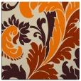 rug #600581 | square orange damask rug