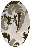 rug #600617 | oval white damask rug
