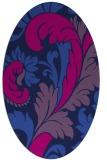 rug #600645 | oval damask rug
