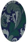 rug #600649 | oval blue damask rug