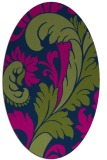 rug #600653 | oval green damask rug