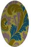 rug #600679 | oval damask rug