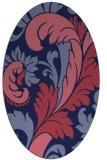 rug #600709 | oval blue-violet rug