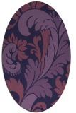 rug #600713 | oval blue-violet damask rug