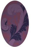 rug #600715 | oval damask rug
