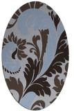 rug #600729   oval blue-violet rug