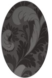 rug #600765 | oval brown damask rug