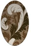 rug #600769 | oval beige damask rug