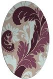 rug #600773 | oval damask rug