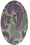 rug #600797 | oval purple damask rug