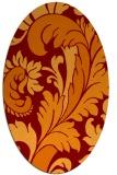 rug #600806 | oval damask rug