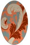 rug #600813 | oval beige damask rug