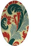 rug #600821 | oval yellow rug