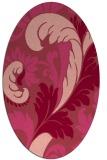 rug #600833   oval pink damask rug