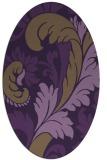 rug #600849 | oval purple damask rug