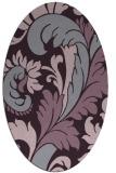 rug #600853 | oval purple damask rug