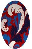 rug #600857   oval red damask rug