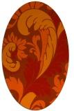 rug #600863 | oval damask rug
