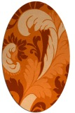 rug #600877 | oval red-orange damask rug