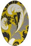 rug #600917 | oval white damask rug