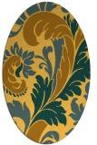 rug #600921 | oval light-orange damask rug