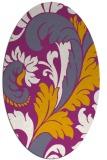 rug #600929   oval damask rug
