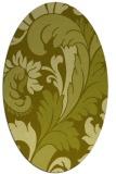 rug #600937 | oval light-green rug