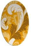 rug #600953   oval light-orange damask rug