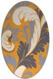 rug #600965 | oval light-orange damask rug