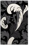 rug #600973    black damask rug