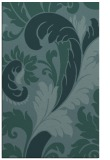 rug #601041 |  blue-green damask rug