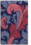rug #601061 |  blue-violet damask rug