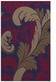 rug #601077 |  blue-violet damask rug