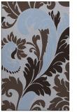 rug #601081 |  blue-violet damask rug