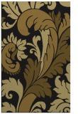 rug #601085 |  black damask rug