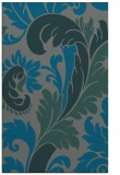 rug #601097 |  green damask rug