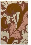rug #601113 |  brown damask rug