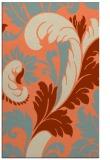 rug #601165    orange damask rug