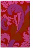 rug #601221    red damask rug