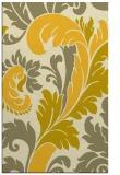 rug #601257    yellow damask rug