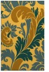 rug #601273 |  yellow damask rug