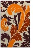 rug #601285 |  orange damask rug